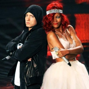 rhetorical analysis on eminem and rihannas Eminem versus trump was an inevitable clash i mean, of course the trump show had to eventually include a slim shady cameo he had to be in the circus that is this administration because he and.